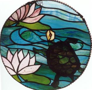 2 -Nature5 waterlilies & turtle