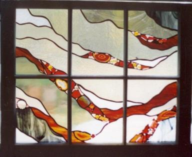 7 - Art in Glass4- window sash - grays-reds